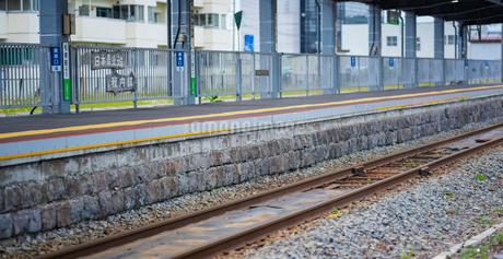北海道 自然 風景 パノラマ 稚内駅 (日本最北端の駅)の写真素材 [FYI03144539]