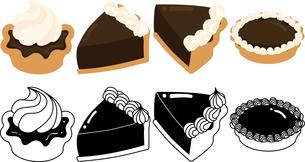 チョコレートタルトの可愛いアイコンのイラスト素材 [FYI03144755]