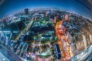 東京の夜景(文京シビックセンターから)の写真素材 [FYI03144801]