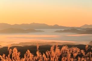雲海と日の出の写真素材 [FYI03145031]
