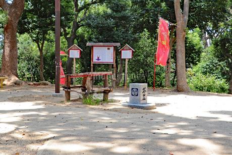天王寺公園・茶臼山の山頂の写真素材 [FYI03145408]
