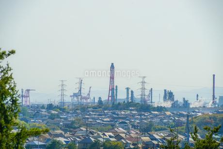 宮城県・七ヶ浜町から見える仙台港の写真素材 [FYI03145419]