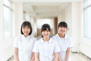 微笑む看護学生の写真素材 [FYI03145877]