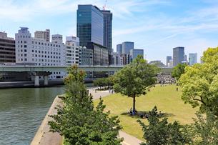 大阪・中之島公園の芝生広場の写真素材 [FYI03145986]