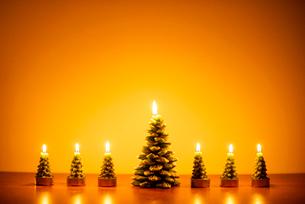 クリスマスツリーのキャンドルの写真素材 [FYI03146147]