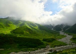 雷鳥沢キャンプ場からの眺めの写真素材 [FYI03146324]