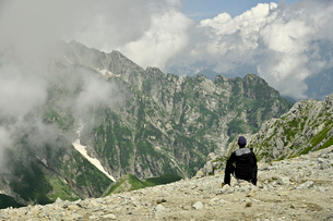 登山者の写真素材 [FYI03146331]