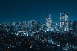 東京都心の夜景の写真素材 [FYI03146709]