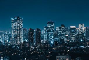 東京都心の夜景の写真素材 [FYI03146710]