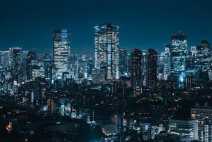 東京都心の夜景の写真素材 [FYI03146713]
