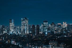 東京都心の夜景の写真素材 [FYI03146719]