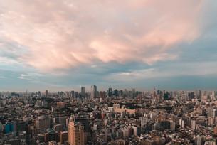 東京都心の夕暮れの写真素材 [FYI03146724]