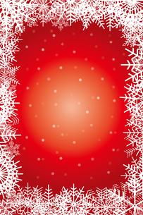クリスマスのイメージの背景画像:雪のフレームのイラスト、クリスマスのイメージのイラスト素材 [FYI03146815]