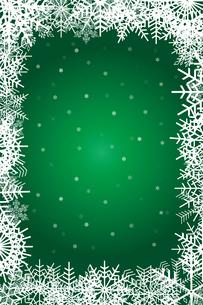 クリスマスのイメージの背景画像:雪のフレームのイラスト、クリスマスのイメージのイラスト素材 [FYI03146817]