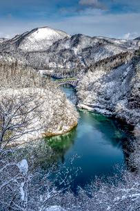 冬の只見線の写真素材 [FYI03147288]