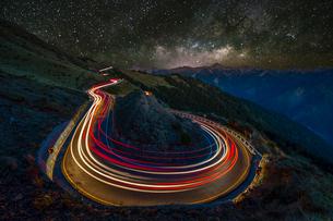 夜の合歓山の写真素材 [FYI03147298]