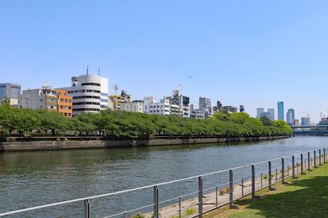 大阪・堂島川と中之島公園の写真素材 [FYI03147610]