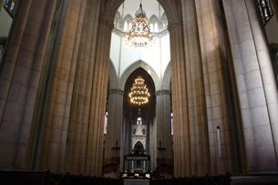 サンパウロ市にあるセー大聖堂の内部の写真素材 [FYI03147884]