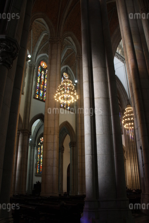 サンパウロ市にあるセー大聖堂の内部の写真素材 [FYI03147885]