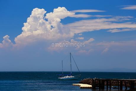 青空と雲とヨットの写真素材 [FYI03148423]