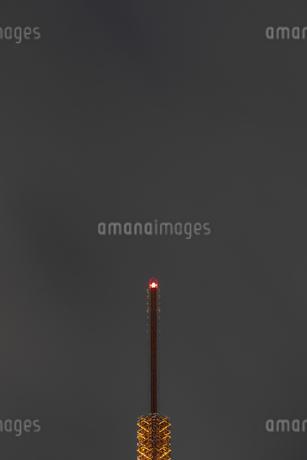 クローズアップ東京タワー<夜景>の写真素材 [FYI03148655]