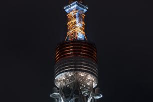 クローズアップ東京タワー<夜景>の写真素材 [FYI03148659]