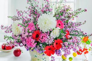 カラフルな花瓶の花の写真素材 [FYI03148825]