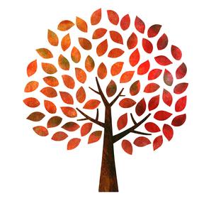 秋の紅葉の木のイラスト素材 [FYI03149007]