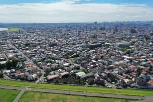 江戸川上空からの空撮の写真素材 [FYI03149020]