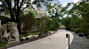 ハーブ庭園入り口の写真素材 [FYI03149076]