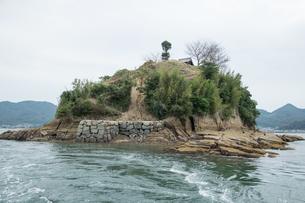 日本遺産 村上水軍 海賊の 居城跡 能島 鯛崎島の写真素材 [FYI03149164]