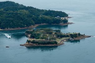 日本遺産 村上水軍 海賊の 居城跡 能島 鯛崎島の写真素材 [FYI03149168]