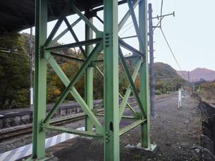 旧川原湯温泉駅(移転前)の写真素材 [FYI03149250]