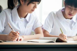 勉強をする看護学生の写真素材 [FYI03149342]