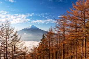 新道峠から望む富士山 日本 山梨県 笛吹市の写真素材 [FYI03150147]