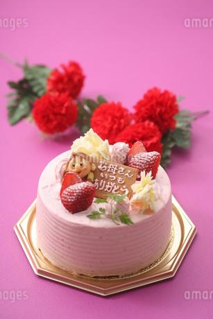 母の日デコレーションケーキの写真素材 [FYI03150197]