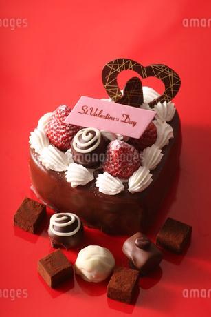 バレンタインチョコケーキの写真素材 [FYI03150198]