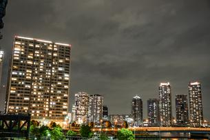 横浜・みなとみらいの夜景の写真素材 [FYI03150312]