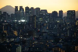 文京シビックセンターからの夕景(新宿方面)の写真素材 [FYI03150320]
