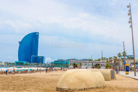 バルセロネータビーチ(スペイン・バルセロナ)の写真素材 [FYI03150623]