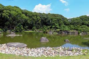 夏の日本庭園の写真素材 [FYI03150716]