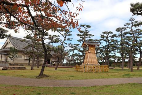 岸和田城の時計台の写真素材 [FYI03150825]