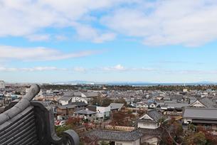 岸和田城からの眺めの写真素材 [FYI03150844]