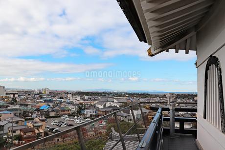 岸和田城天守閣からの眺めの写真素材 [FYI03150845]