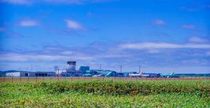 北海道 自然 風景 稚内空港遠望の写真素材 [FYI03150974]