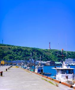 北海道 自然 風景 稚内漁港近辺の写真素材 [FYI03150995]