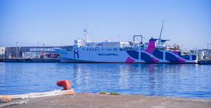 北海道 自然 風景 パノラマ 稚内フェリーターミナルの写真素材 [FYI03151017]