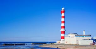 北海道 自然 風景 パノラマ 稚内灯台の写真素材 [FYI03151029]