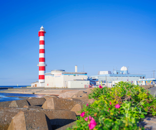 北海道 自然 風景 稚内灯台の写真素材 [FYI03151030]