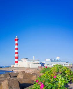 北海道 自然 風景 稚内灯台の写真素材 [FYI03151031]